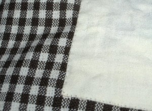 Close-up of hemming