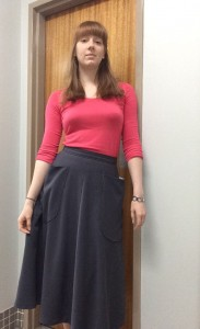 Flared skirt, waistband