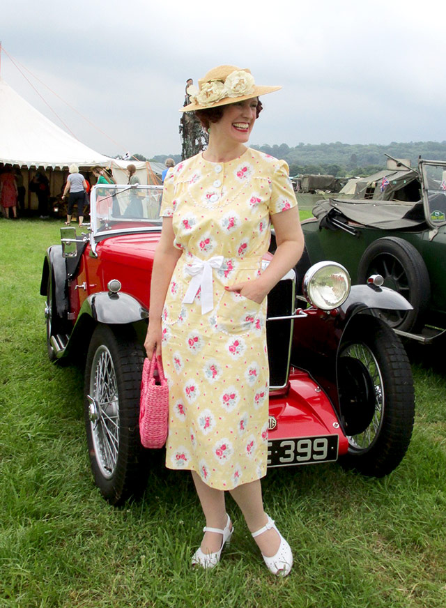Late 1930s yellow dress