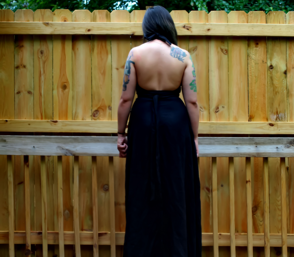 And my first backless dress.