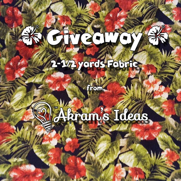 Akram's Ideas: Fabric Give Away