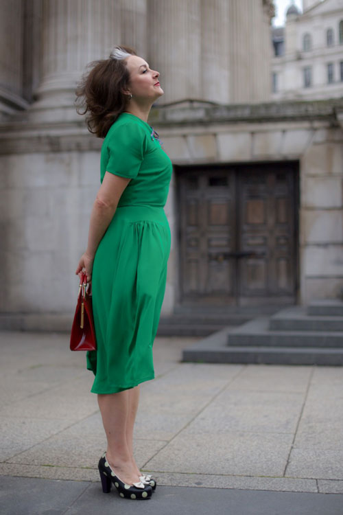 blackmore 8194 green vintage dress