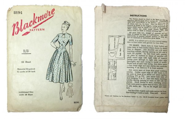 Blackmore 8194 vintage sewing pattern