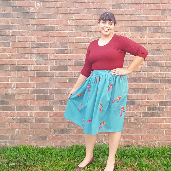 Akram's Ideas: Parrot Print Gathered Skirt