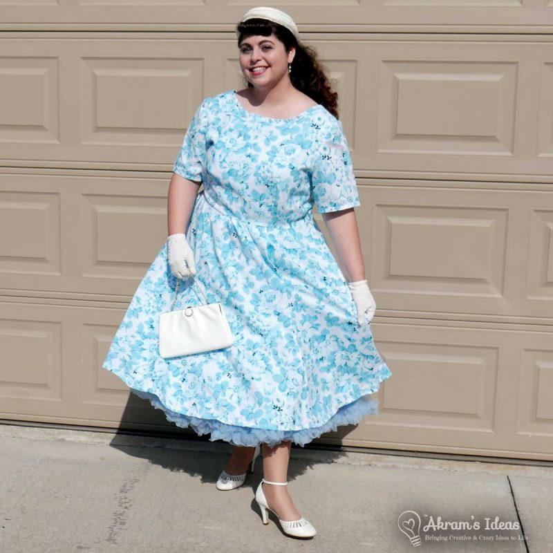 Akram's Ideas: The Easter Spring Dress 2017 Big Reveal in Blue