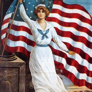 Nautical 4th of July dress 1900
