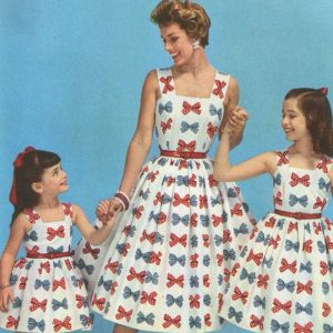 Matching Mother and Daughters 4th of July 50's dresses