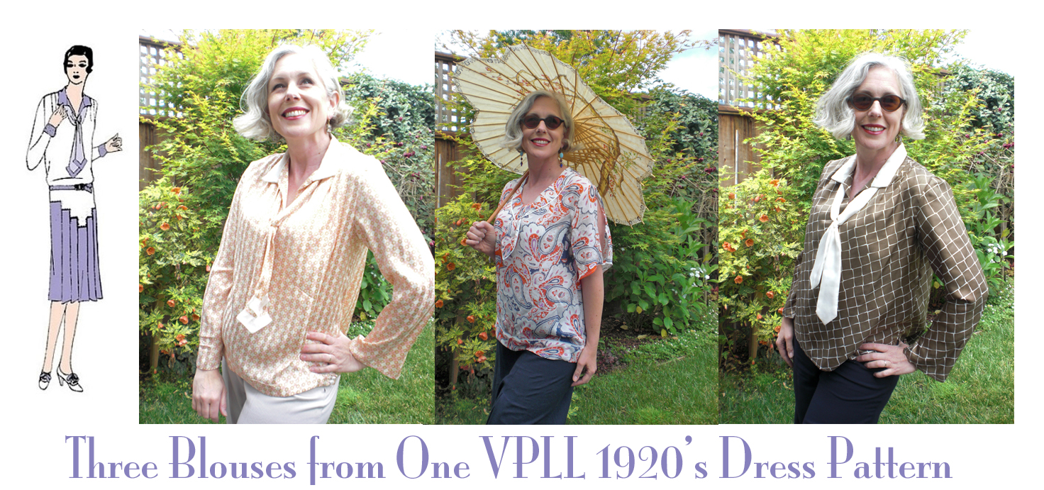 Three Blouses from One 1920's Dress Pattern