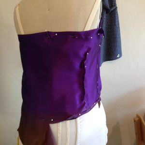 Draping the Back Bodice