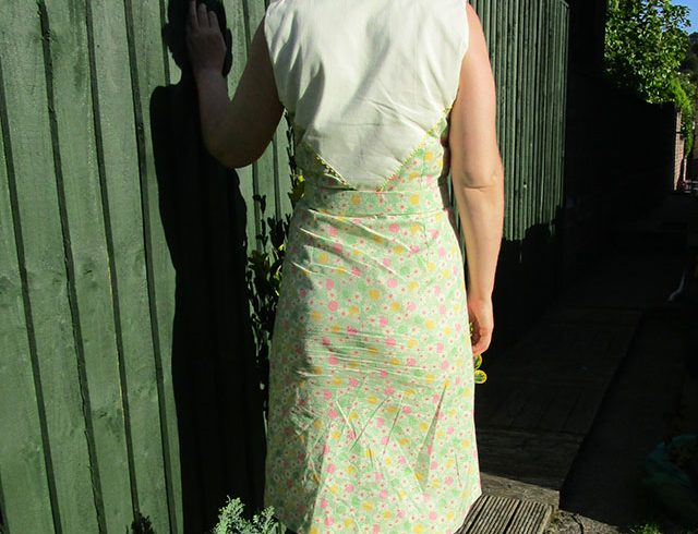 1930s feedsack print dress