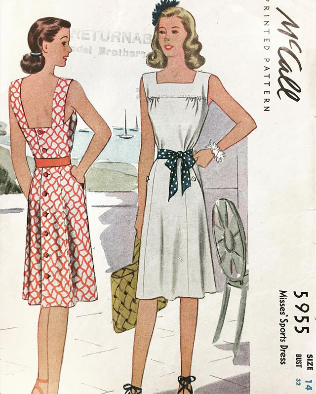 5955 McCall sewing pattern, 1946