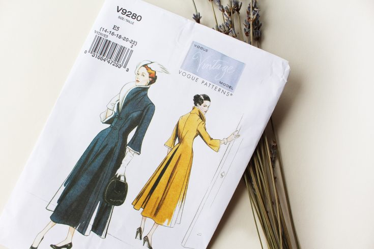 Pattern envelope, Vintage Vogue 9280, Vintage on Tap | Vintageontap.com