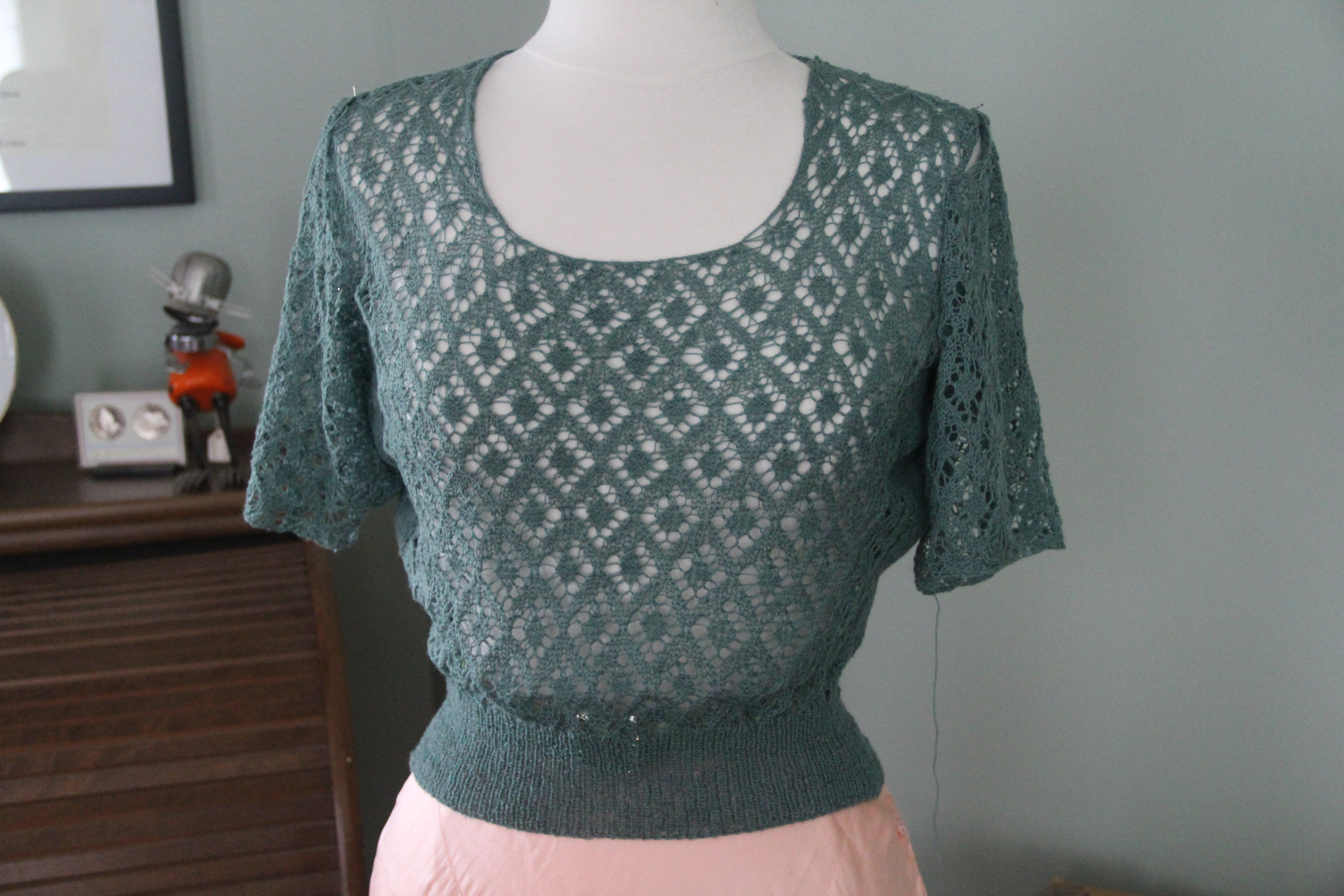 1951 knitted lace sweater